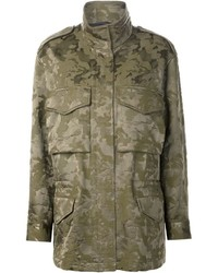Chaqueta militar de camuflaje verde oliva de Alexander Wang