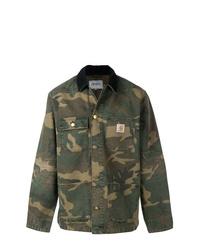 Chaqueta militar de camuflaje verde oscuro de Carhartt Heritage