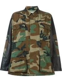 Chaqueta Militar de Camuflaje Verde Oscuro