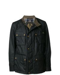 Juntar discreción Con fecha de  Comprar una chaqueta militar negra Belstaff | Outfits Hombre | Lookastic  México