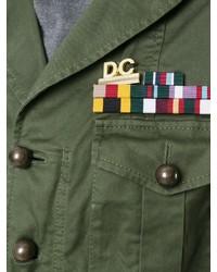 Chaqueta militar verde de DSQUARED2