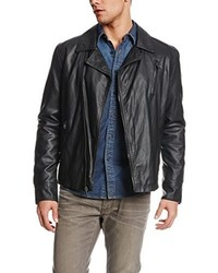 Chaqueta motera de cuero negra de Kenneth Cole Reaction