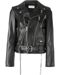 Chaqueta motera negra de Saint Laurent
