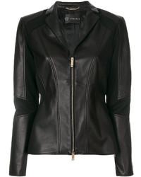 Chaqueta motera negra de Versace