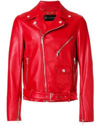 Chaqueta motera roja de Versace