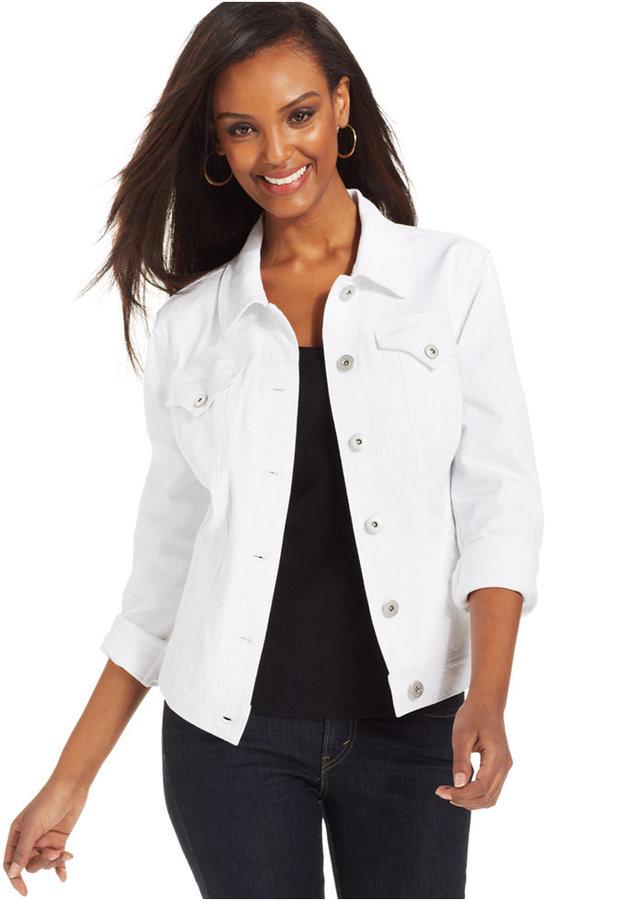 Combinar chaqueta vaquera blanca