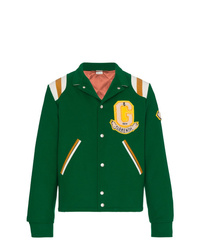 Chaqueta varsity verde de Gucci