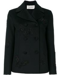 Chaquetón bordado negro de Valentino