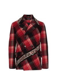 Chaquetón de tartán rojo de Dolce & Gabbana