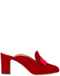 Chinelas con adornos rojas de Tabitha Simmons