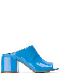 Chinelas de cuero azules de MM6 MAISON MARGIELA