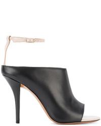 Chinelas de Cuero Negras de Givenchy
