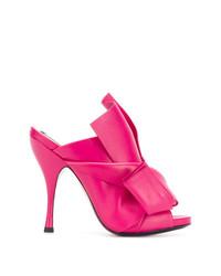 Chinelas de cuero rosa de N°21