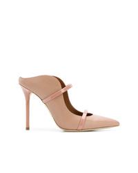 Chinelas de cuero rosadas de Malone Souliers