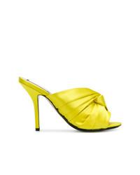 Chinelas de satén amarillas de N°21