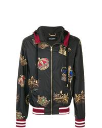 Chubasquero estampado negro de Dolce & Gabbana