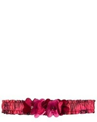 Cinta para la cabeza con print de flores roja