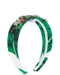 Cinta para la cabeza verde de Dolce & Gabbana