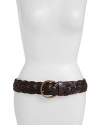 Cinturón de cuero en marrón oscuro
