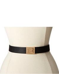 Cinturón de cuero en negro y dorado