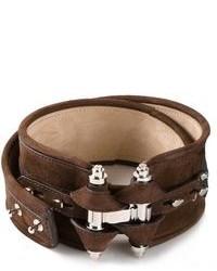 Cinturón de Cuero Marrón Oscuro de Givenchy