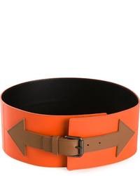 Cinturón de cuero naranja