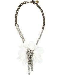 Collar con print de flores blanco de Lanvin