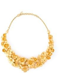 Collar con print de flores dorado de Valentino