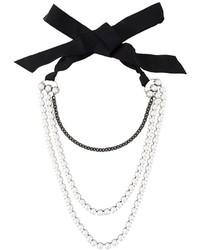 Collar de perlas blanco de Lanvin