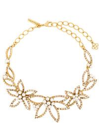 Collar de Perlas Dorado de Oscar de la Renta