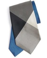 Corbata a cuadros azul