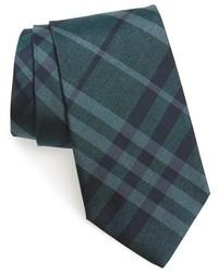 Corbata a cuadros en verde azulado