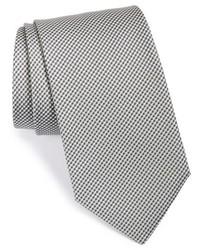 Corbata a cuadros gris