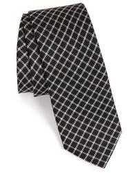 Corbata a cuadros negra