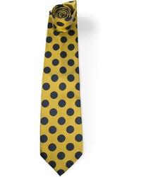 Corbata a lunares amarilla de Gianfranco Ferre
