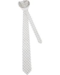 Corbata a lunares en blanco y negro
