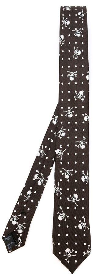 Corbata a lunares en marrón oscuro de Dolce & Gabbana