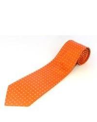 Corbata a lunares naranja
