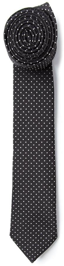 Corbata a lunares negra de Jil Sander