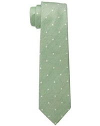 Corbata a lunares verde oliva