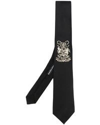 Corbata bordada negra de Alexander McQueen