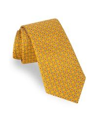Corbata con estampado geométrico amarilla