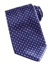 Corbata con estampado geométrico azul marino
