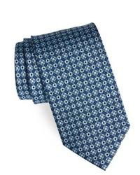 Corbata con estampado geométrico azul