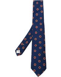 Corbata con print de flores azul marino de Canali