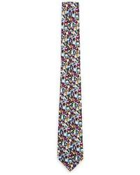 Corbata con print de flores en multicolor