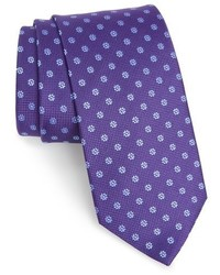 Corbata con print de flores en violeta