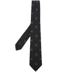 Corbata con print de flores negra de Givenchy