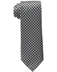 Corbata de cuadro vichy en blanco y negro