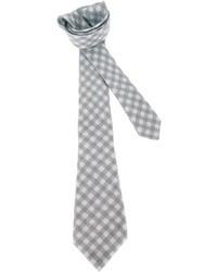 Corbata de cuadro vichy gris